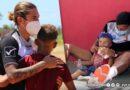 La Vinotinto Sub-20 celebró Día del Niño con donación de material deportivo a infantes en Margarita